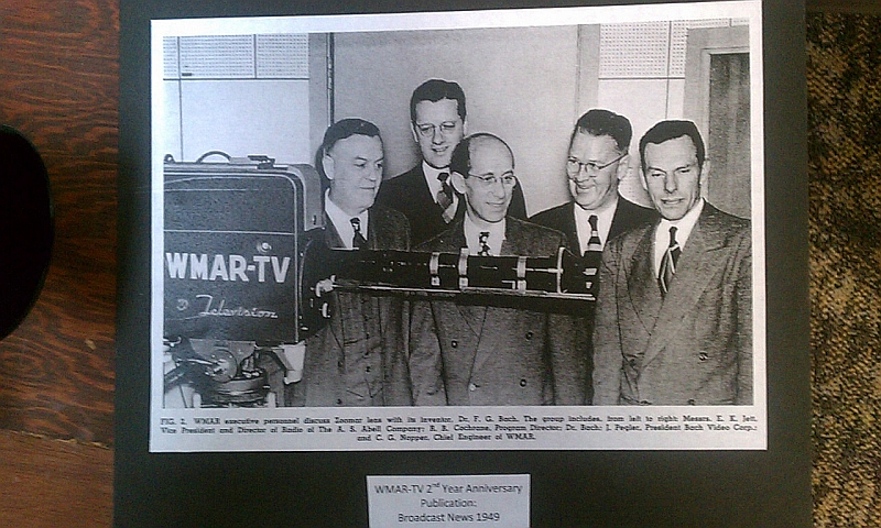 WMAR-TV's Zoomar lens mounted on a television camera.